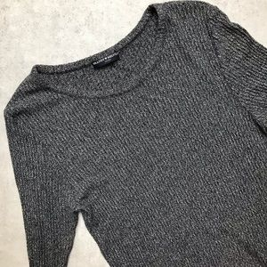 Brandy Melville   Ribbed Knit Long Sleeve Top
